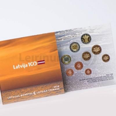 BNC Letónia 2018 Carteira c/9 Moedas c/2€ Comem.