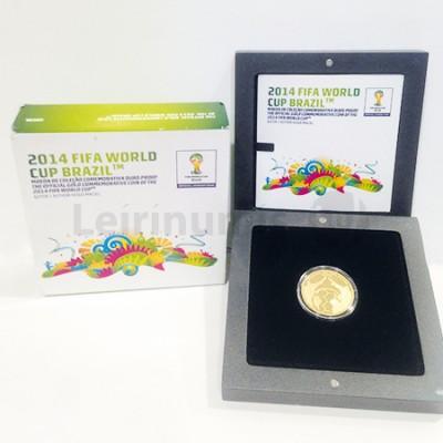 Moeda 2,5€  Comem. Campe. Mundo Brasil Fifa 2014  Ouro