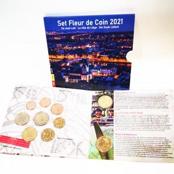 Carteira FDC - Bélgica 2021 c/ 10 Moedas