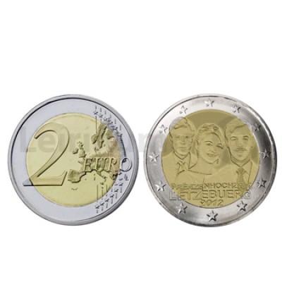 2 Euros Casam. do Grão-Duque Guillaume e Stéphanie Luxemburgo 2012