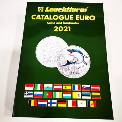 Catálogo Moedas e Notas Euro Leuchtturm 2021