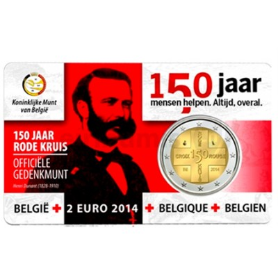 2 Euros 150 Anos da Cruz Vermelha Bélgica 2014