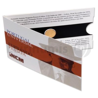 Moeda 1/4€ Comemorativa Fernando Pessoa  2014 Ouro