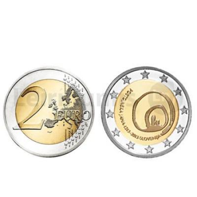 2 Euros Grutas Postojnska Eslovénia 2013