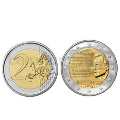 2 Euros Hino Nacional Luxemburgo 2013