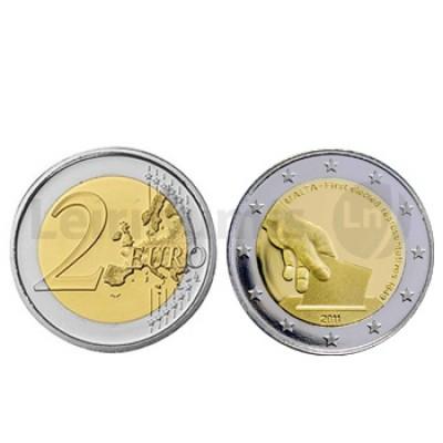 2 Euros 1 Eleição de Representantes em 1849 Malta 2011