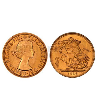 Libra Ouro Isabel II  Solteira