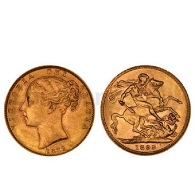 Libra Ouro Victoria Solteira (Brasão)