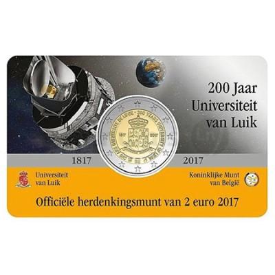 Moeda 2 Euro 200 Anos da Universidade de Liege Bélgica 2017