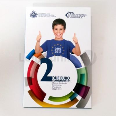 Moeda 2 Euros 10 Anos Circulação do Euro S. Marino 2012