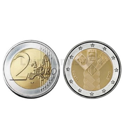 Moeda 2 Euro 100º Aniversário dos Países Bálticos Lituânia 2018