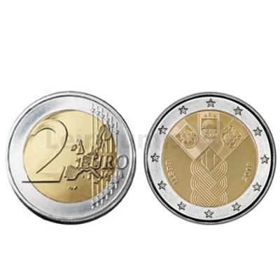 Moeda 2 Euros 100º Aniversario dos Países Bálticos Letónia 2018