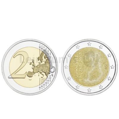 Moeda 2 Euro Finlândia 2017 100 Anos Independência