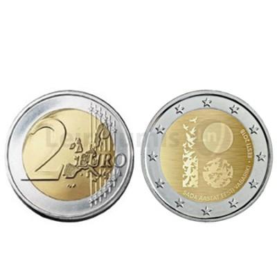 Moeda 2 Euro 100 Anos República da Estónia 2018