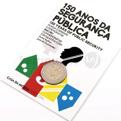 Moeda 2 Euro Portugal 2017 150 Anos da PSP (BNC) Sem Cor