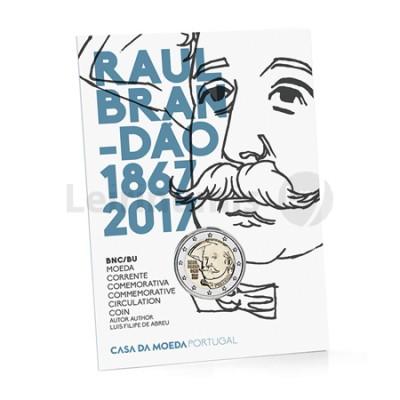 Moeda 2 Euro 150 Anos Nascimento Raul Brandão Portugal 2017 BNC