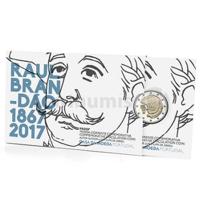 Moeda 2 Euro 150 Anos Nascimento Raul Brandão Portugal 2017 Proof