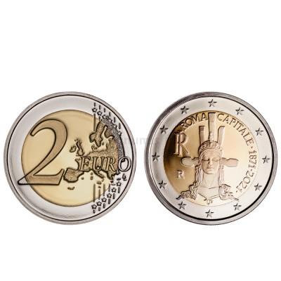 Moeda 2 Euros 150 Anos Roma Capital de Itália 2021