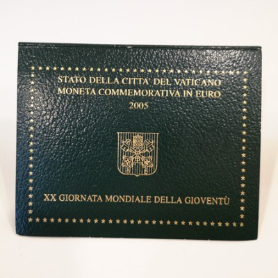 Moeda 2 Euros 20ª Jornada Mundial da Juventude Vaticano 2005