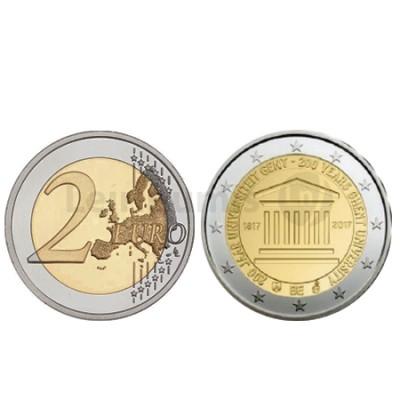 Moeda 2 Euro 200 Anos da Universidade de Gent Bélgica 2017