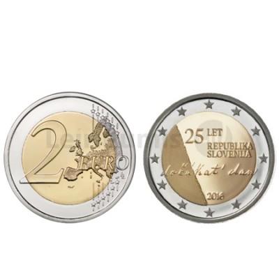 Moeda 2 Euros  Eslovénia 2016 25 Aniversário Independência