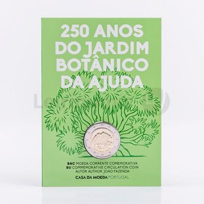 Moeda 2 Euro 250 Anos Jardim Botânico BNC Portugal 2018