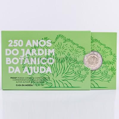 Moeda 2 Euro 250 Anos Jardim Botânico Proof Portugal 2018