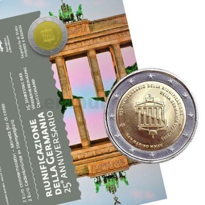 2 Euros 25 Anos da Unificação da Alemanha - San Marino 2015