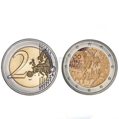 Moeda 2 Euro 30 Anos  Queda do Muro de Berlim Alemanha 2019 A