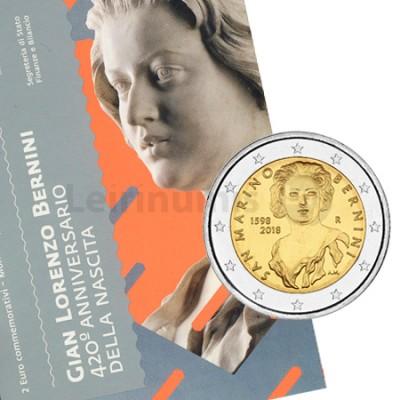 Moeda 2 Euro 450 Anos do Nascimento de Bernini San Marino 2018