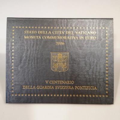 Moeda 2 Euros 5 Centenário da Guarda Suiça Pontificia Vaticano 2006