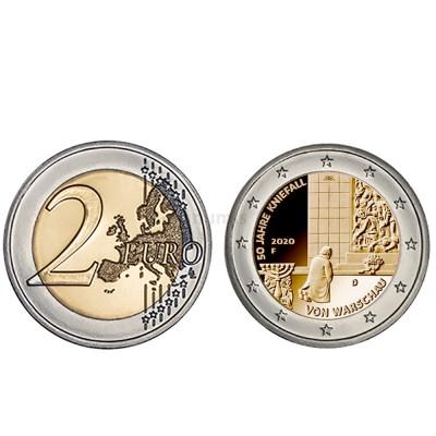 Moeda 2 Euro 50 Anos Genuflexão Varsóvia Alemanha 2020 G