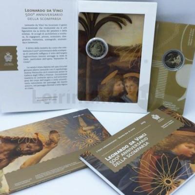 Moeda 2 Euro 500 Anos de Leonardo da Vinci San Marino 2019