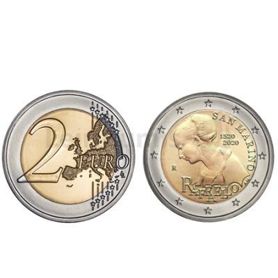 Moeda 2 Euro 500 Anos da Morte de Raffaelo San Marino 2020