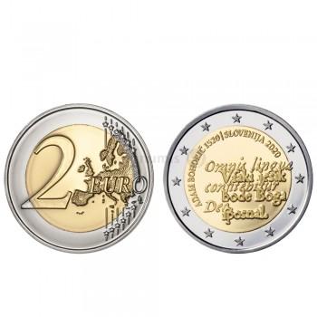 Moeda 2 Euros 500 Anos do Nascimento de Adam Bohorich Eslovénia 2020