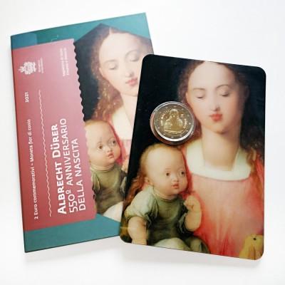 Moeda 2 Euro 550 Anos Nascimento de Albrecht Durer San Marino 2021