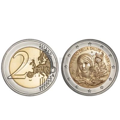 Moeda 2 Euros 60 Anos Ministério da Saúde de Itália 2018