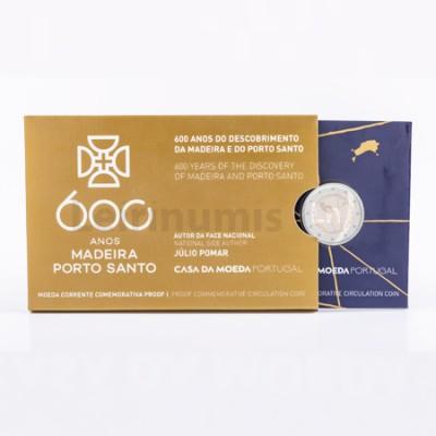 Moeda 2 Euro 600 anos Descobrimentos da Madeira Proof Portugal 2019