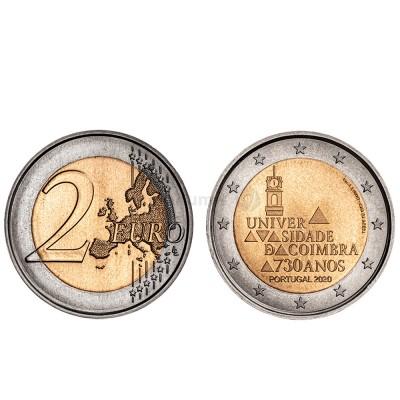 Moeda 2 Euro 730 Anos da Universidade de Coimbra Portugal 2020 Normal