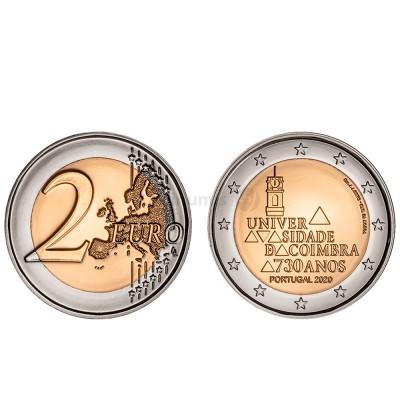 Moeda 2 Euro 730 Anos da Universidade de Coimbra Portugal 2020 BNC