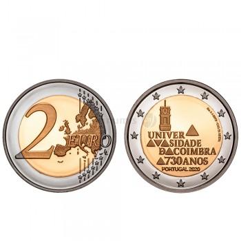 Moeda 2 Euro 730 Anos da Universidade de Coimbra Portugal 2020 Proof