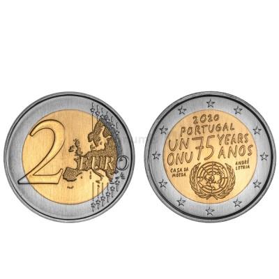 Moeda 2 Euro 75 anos da ONU Portugal 2020 Normal