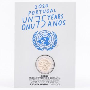 Moeda 2 Euro 75 anos da ONU Portugal 2020 BNC