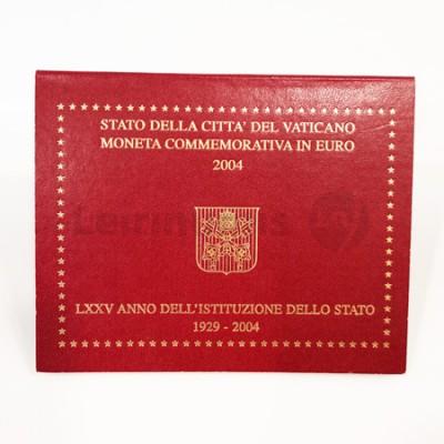 Moeda 2 Euros 75 Anos da Fundação do Estado do Vaticano 2004