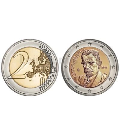 Moeda 2 Euros 75 Anos morte de Kostis Palamos Grécia 2018