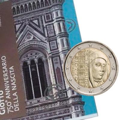 Moeda 2 Euro San Marino 2017 alusiva a 750 Aniversário Giotto