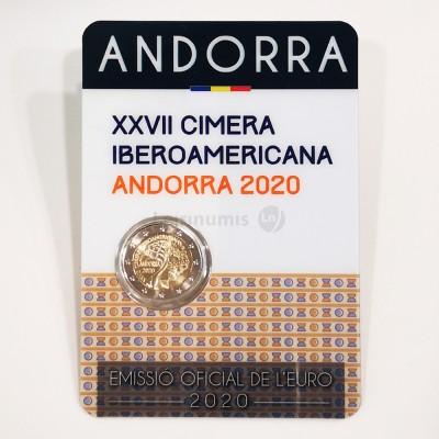Moeda 2 Euros XXVII Cimeira Ibero Americana Andorra 2020