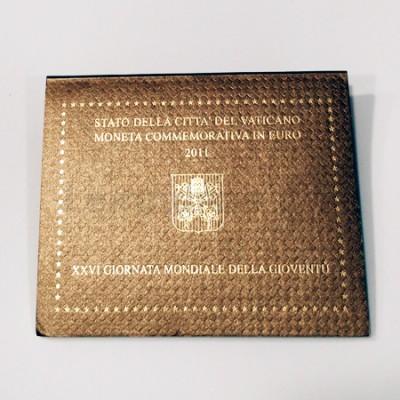 Moeda 2 Euros XXVI Dia Mundial da Juventude Vaticano 2011
