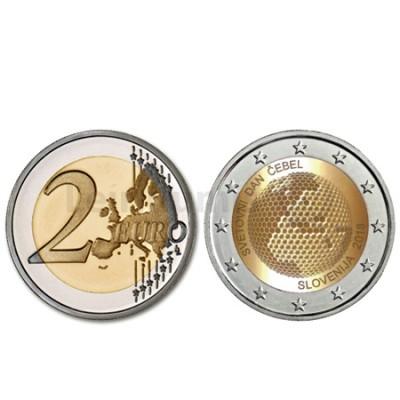 Moeda 2 Euros Abelha Eslovénia 2018