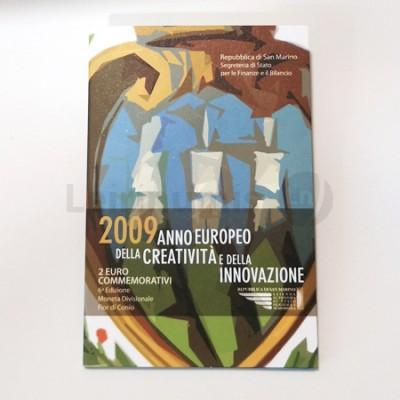 Moeda 2 Euro Ano Europeu Criatividade e Inovação San Marino 2009